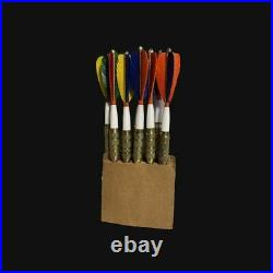 1980s vintage darts Seigo Asada Unicorn brass feather flight Lot Of 9 Very Rare