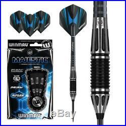 22 Gram Winmau Majestic Ripsaw Grip Control 90% Tungsten Darts New Release