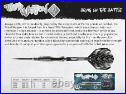 24 Gram Shot Tribal Weapon 4 90% Tungsten Steel Tip Darts. Center Weighted