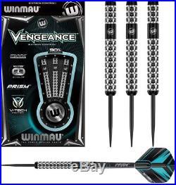 24 Gram Winmau Vengeance Onyx Coating Tungsten Darts. V-tech Control
