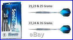 (24g) HARROWS SONIC 90% TUNGSTEN STEEL TIP DARTS 21g to 26g TITANIUM