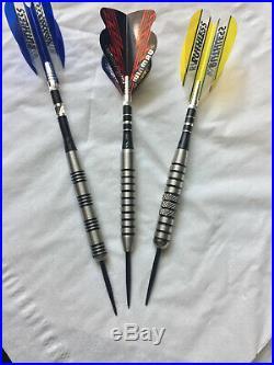 3 Sets of Piranha Razor Grip Darts 26/28/ 30 Gr Tungsten Steel Tip Dart World