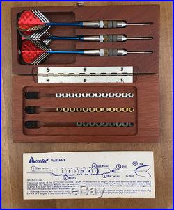 Accudart The VARIANT Adjustable Weight Steel Tip Darts with original wood case