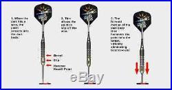 BOTTELSEN HAMMER HEAD 2044 Fine Knurl Grip Dart Set 90% Tungsten Moveable Point