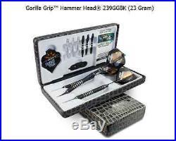 BOTTELSEN HAMMER HEAD 239GGBK GORILLA Grip Dart Set 90% Tungsten Moveable Point