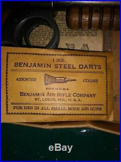 Benjamin 132 With Box And Darts and pellets. Benjamin pellet gun