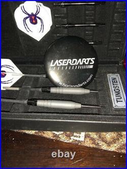 Black Widow Fixed Point 20 Gram 90%tungsten, Steel Tip Darts By Lasedarts