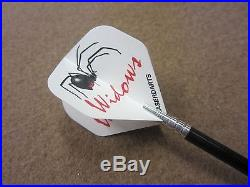Black Widow Steel Tip Darts 23g Fixed Tungsten LS-BWF223-23 Kn with FREE Shipping