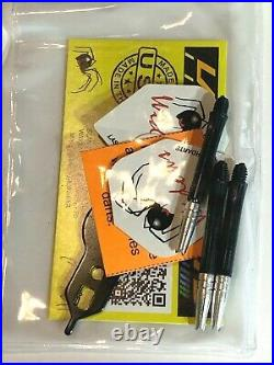 Black Widow Steel Tip Darts 26 Gram Fixed Point Free Shipping Free Flights