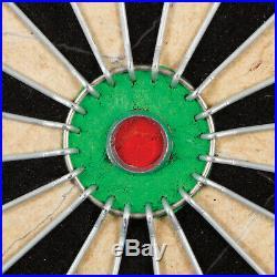 Bristle Dartboard Self-Healing Sisal Board Cabinet Set 6 Steel Tip Darts 18 New