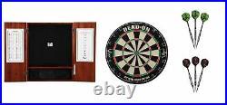 Bristle Dartboard + Steel Tip Dartboard Cabinet + 25 Grams Dart Sets