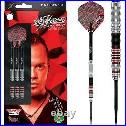 Bulls Max Hopp Darts Set Steel Tip 22g 23g 24g grams 90% Tungsten Maximiser