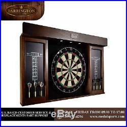 Dartboard Cabinet 40 LED Lights and Six Steel Tip Darts Game Room Bedroom Play
