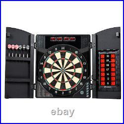 Dartboard Cabinet Set Bristle Smart Electronic Steel Tip Dart Game Room Durable