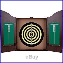 Dartboard Cabinet Set Dart Board Darts Gameroom Bar Game Sports Steel Tip Darts