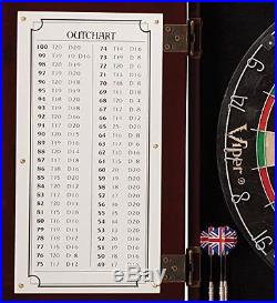 Darts Dartboard Cabinet Bundle Steel Tip Dart Set Sporting Goods Indoor Games