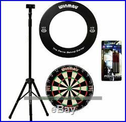 Darts Master Dartboard Stand Bundle Stand, Dartboard and Surround