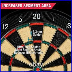 Electronic Dartboard with Cabinet and Bristlesmart (Steel Tip Darts)