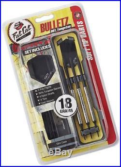 Fat Cat Bulletz 90% Tungsten Soft Tip Darts with Storage/Travel Case 18 Grams