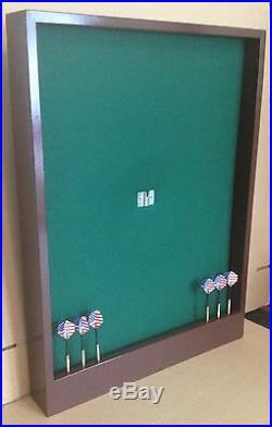 Game Room Dartboard Backboard Wall Protector withStorage Cavity & Dart Display