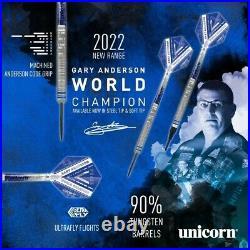 Gary Anderson Phase 5 World Champion 90% Tungsten Steel Tip Darts Unicorn 2022