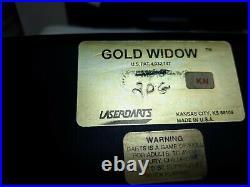 Gold Widow darts fixed point 20G knurl finish