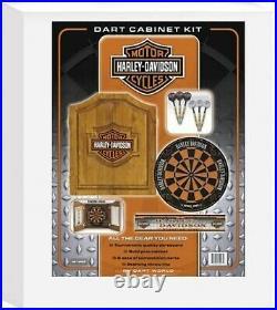 Harley-Davidson Bar and Shield Steel Tip Dartboard Kit FREE Shipping