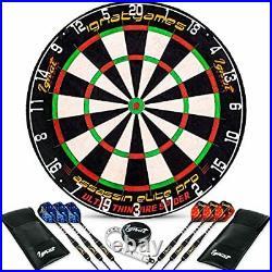 IgnatGames Professional Dart Board Set Bristle/Sisal Tournament Dartboard with