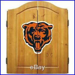 Imperial NFL Merchandise Dart Cabinet Set Steel Tip Dartboard Chicago Bears