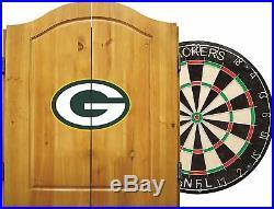 Imperial NFL Merchandise Dart Cabinet Set Steel Tip Dartboard Green Bay Packers