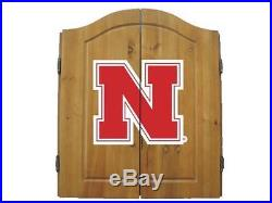 Imperial Officially Licensed NCAA Dart Cabinet Set with Steel Tip Bristle Dartbo