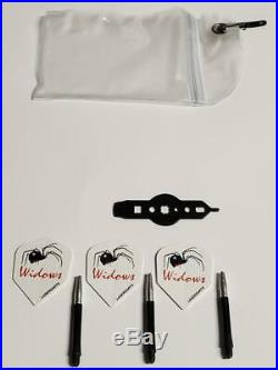 LASERDARTS BLACK WIDOWS 22 Gram Movable-Point Steel Tip Darts SET OF 3