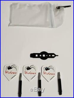 LASERDARTS BLACK WIDOWS 27 Gram Movable-Point Steel Tip Darts SET OF 3