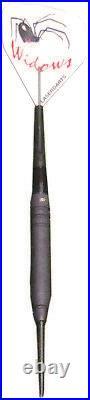 LASERDART BLACK WIDOW FIXED STEEL TIP DART RINGED 26 gram SHIPS FREE