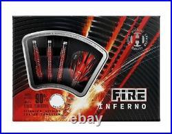 New 2021 Harrows Fire Inferno 90% Tungsten Steel Tip Darts 23 Grams
