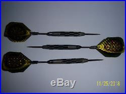 Original 23g Bottlsen Hammerhead GT Steel Tip Gnarled Darts Black Ringed + extra