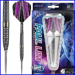 Paul Lim Darts Target Steel Tip Tungsten The Legend 22g Free P&P Pro Grip Stems