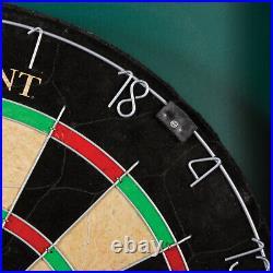 Professional Bristle Dartboard Board Scoreboard Cabinet Set 6 Steel Tip 18 New