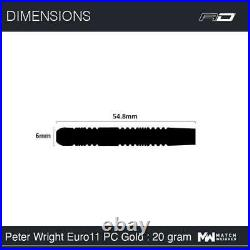 Red Dragon Peter Wright Euro 11 Element Gold 20 Gram Steel Tip Darts 2329