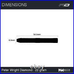 Red Dragon Peter Wright Sb Wc Diamond 90% Tungsten 22 Gram Steel Tip Darts 2269