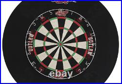 Shot! Darts Outlaw Tournament Dartboard and Surround Set-Steel Tip Dart and B