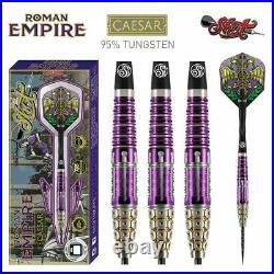 Shot Darts Roman Empire Caesar 24 Gram Steel Tip Darts 90% Tungsten