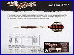 Shot! Darts Tribal Weapon-Steel Tip 24gm Dart Set-Centre Weighted-90% Tungsten