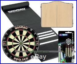 Standard Pub Darts Set Starter Bundle (Beech finish Cabinet)