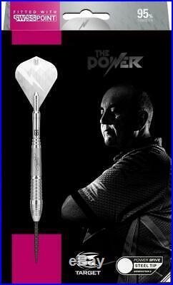 TARGET PHIL TAYLOR POWER 9FIVE GEN 6 24 Gram Steel Tip Darts with Swiss Points