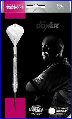 TARGET PHIL TAYLOR POWER 9FIVE GEN 6 26 Gram Steel Tip Darts with Swiss Points