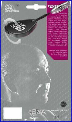 TARGET PHIL TAYLOR POWER 9 FIVE GEN 6 STEEL TIP DARTS 24g
