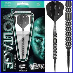 Target Rob Cross Pixel Black Darts Set Steel Tip 21g 23g 25g grams Voltage