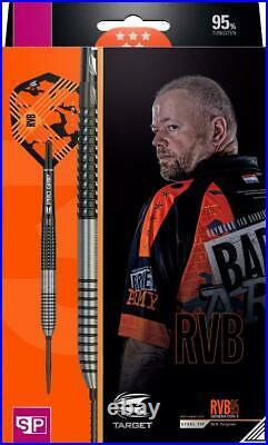 Target Rvb95 G3 Raymond Van Barneveld 95 Tungsten 23 Gram Steel Tip Darts 190067