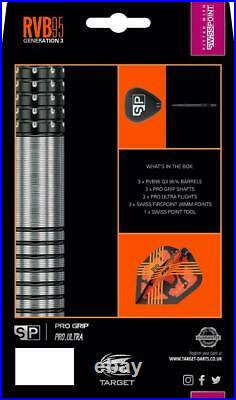 Target Rvb95 G3 Raymond Van Barneveld 95 Tungsten 25 Gram Steel Tip Darts 190068